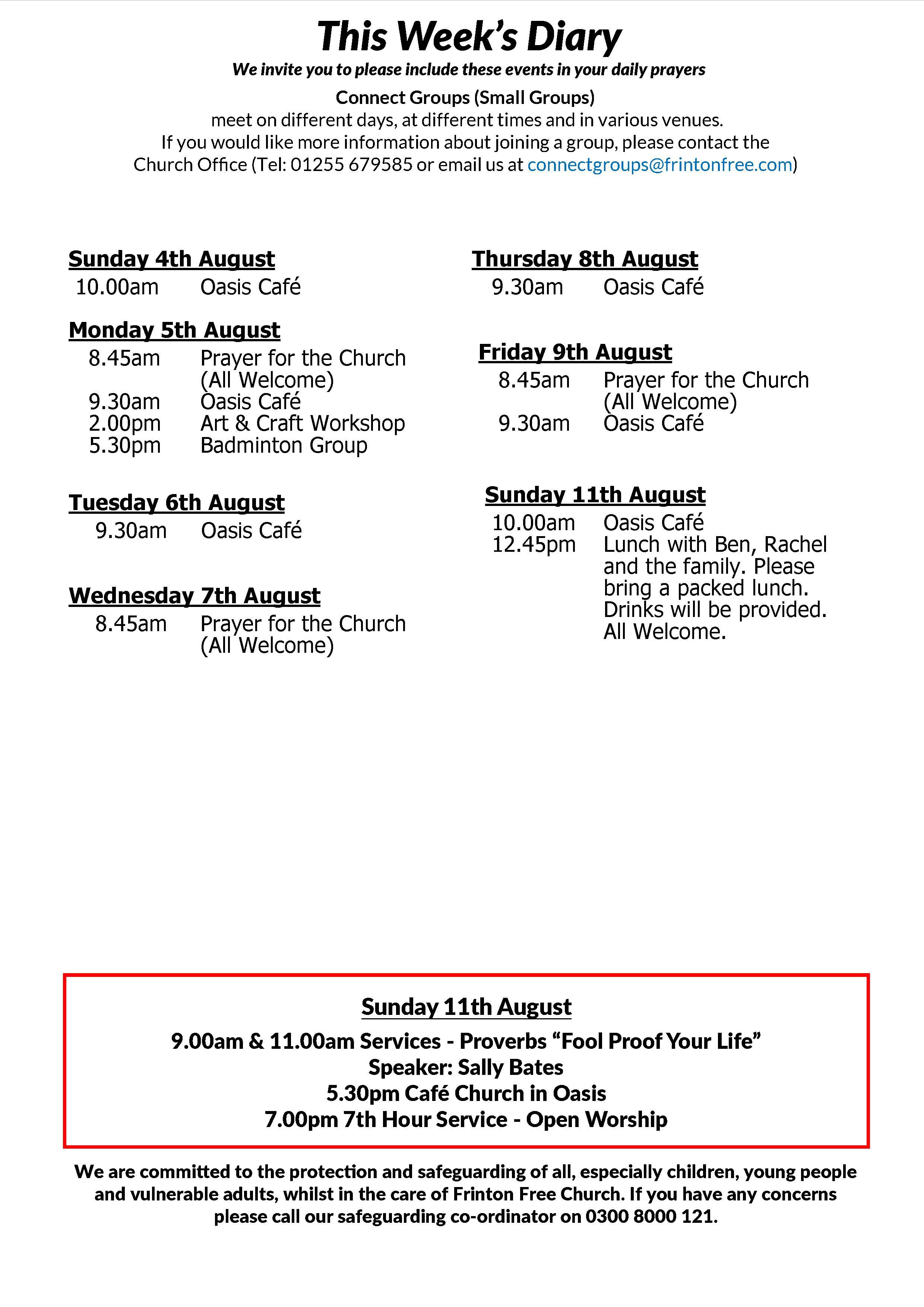 Frinton Free Church : Latest News